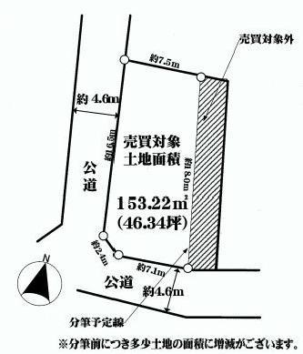 仲手原2丁目土地4380区画図.JPG
